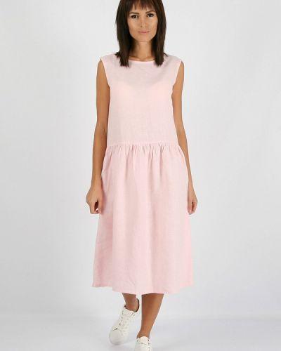 Платье миди осеннее розовое Morandi