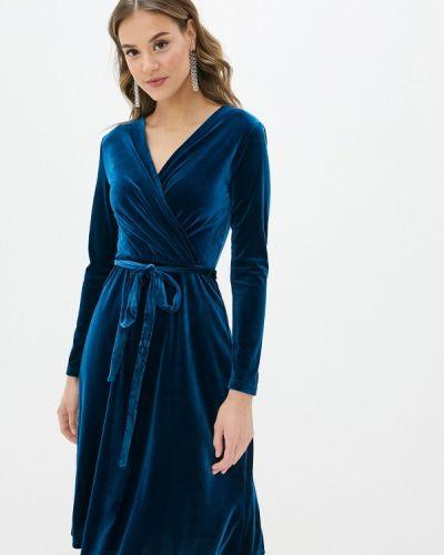 Прямое синее платье Yumi