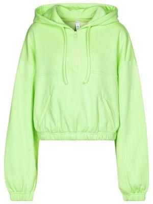 Zielona bluza długa bawełniana Alo Yoga