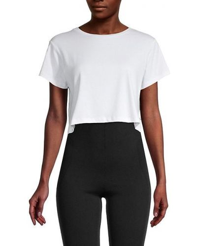 Хлопковая черная футболка стрейч Body Language