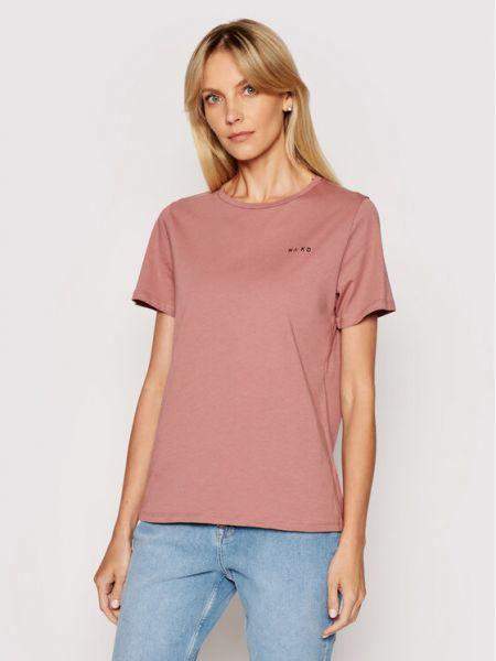 T-shirt - różowa Na-kd