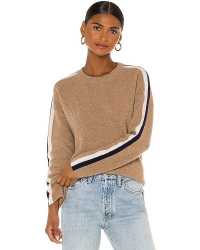 Мягкий кашемировый свитер с нашивками Velvet By Graham & Spencer