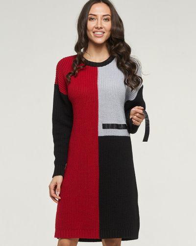 Свободное повседневное вязаное платье миди Vay