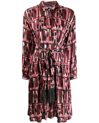Платье с поясом классическое платье-рубашка Just Cavalli