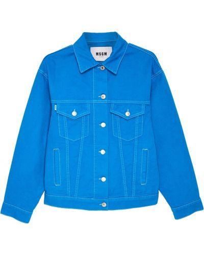 Джинсовая куртка свободная Msgm