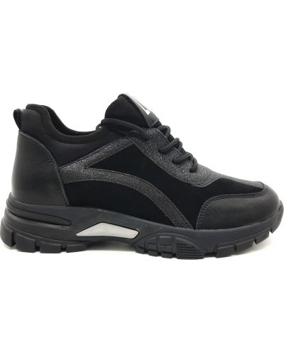 Кожаные кроссовки - черные Lonza
