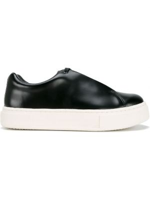 Skórzane sneakersy czarne Eytys