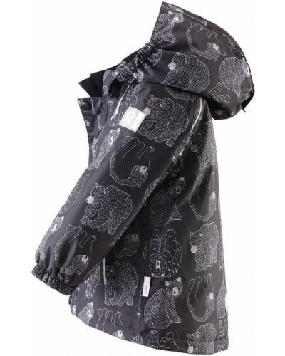 Зимняя куртка с капюшоном черная Reima