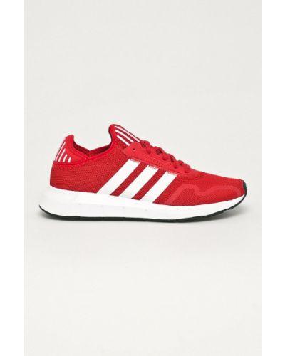 Czerwone sneakersy sznurowane Adidas Originals
