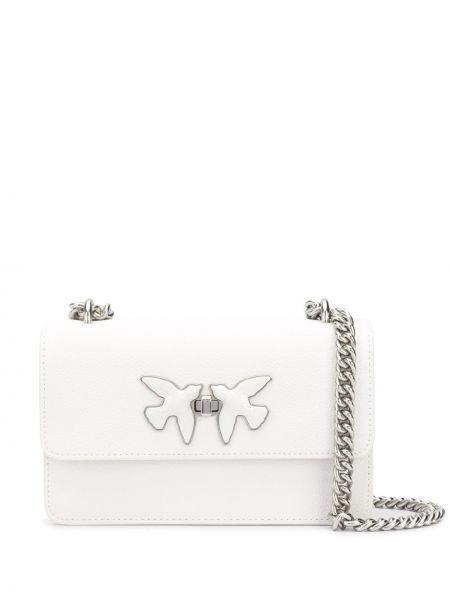 Кожаная сумка на цепочке на плечо Pinko