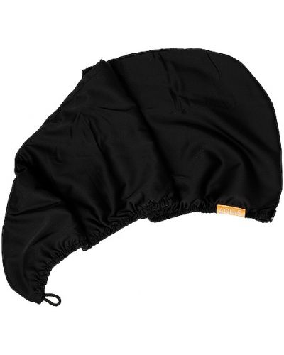 Черная шелковая чалма свободного кроя Aquis