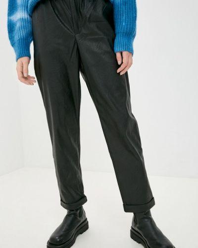 Кожаные черные брюки Pink Woman