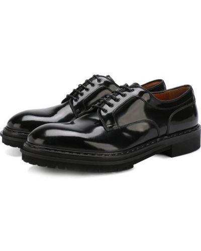 Черные туфли лаковые Premiata