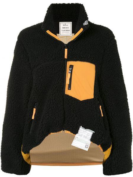 Флисовая черная куртка на молнии Maison Mihara Yasuhiro