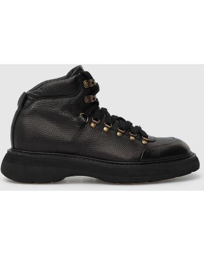 Кожаные ботинки - черные Doucal's