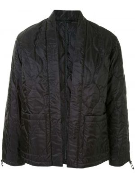 Прямая нейлоновая черная стеганая куртка с карманами Sophnet.