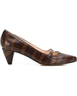 Коричневые туфли-лодочки на каблуке Lenora