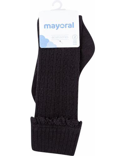 Хлопковые черные носки Mayoral