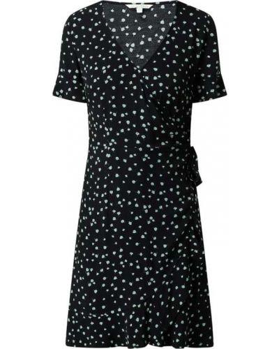 Sukienka mini z falbanami - czarna Tom Tailor Denim