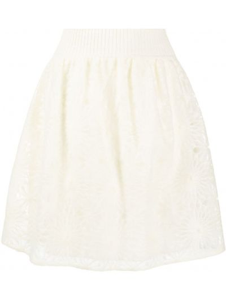 Расклешенная с завышенной талией вязаная юбка Alberta Ferretti