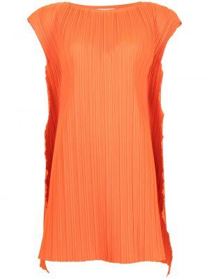 Оранжевое платье мини трапеция с короткими рукавами Bambah