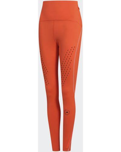 Оранжевые спортивные леггинсы для фитнеса Adidas