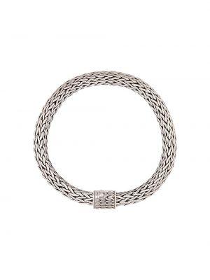 Классический плетеный серебряный плетеный браслет John Hardy