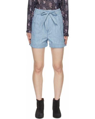 Синие шорты с карманами Isabel Marant étoile