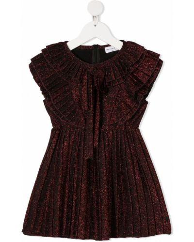 С рукавами красное платье мини с вырезом Sonia Rykiel