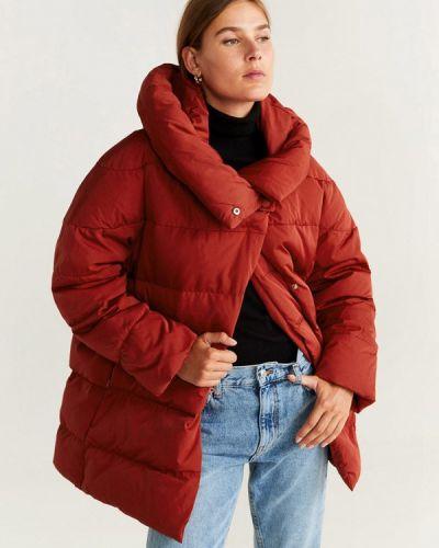 Зимняя куртка осенняя красная Mango
