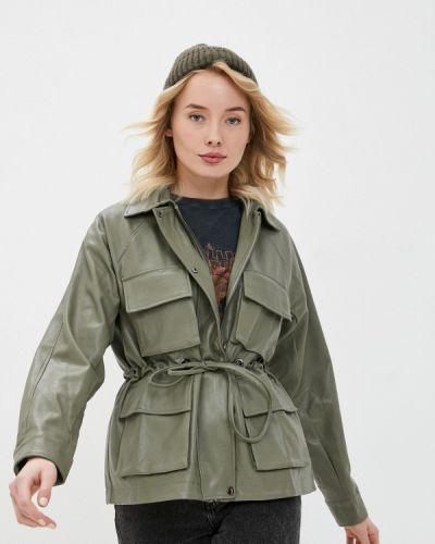 Кожаная куртка - зеленая B.style