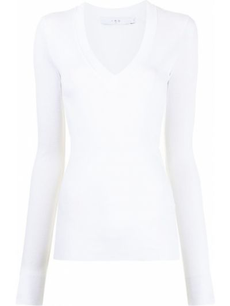 Белая футболка с V-образным вырезом Iro