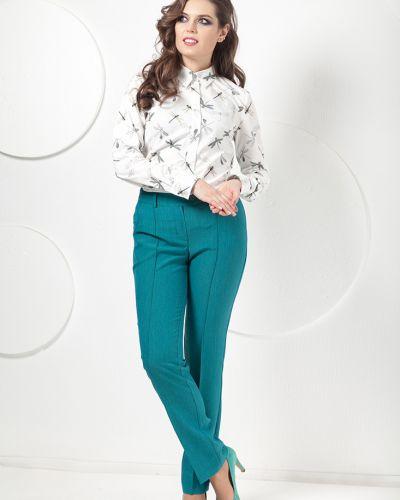 Классические брюки зауженные зеленый Modellos