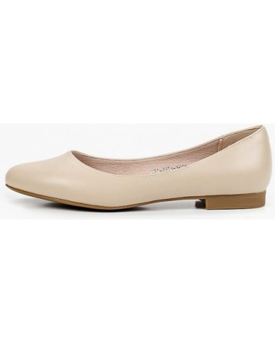 Кожаные бежевые туфли закрытые Lolli L Polli