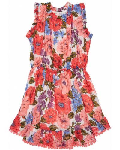 Sukienka w kwiaty bawełniana z printem Zimmermann