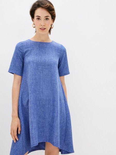 Синее повседневное платье Maurini
