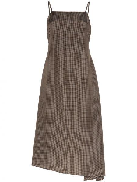 Свободное тонкое платье макси с воротником Asai
