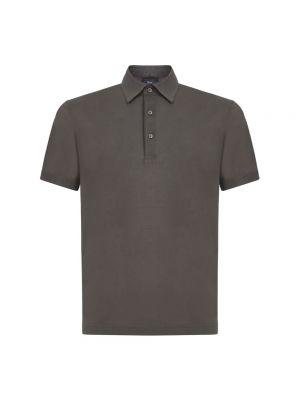 T-shirt bawełniana - szara Herno