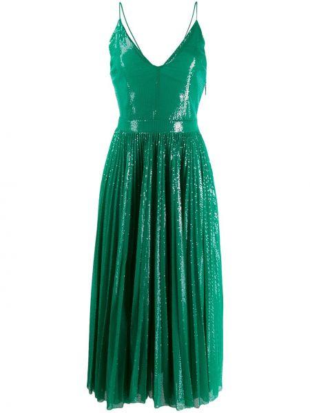 Вечернее платье на бретелях с V-образным вырезом Msgm