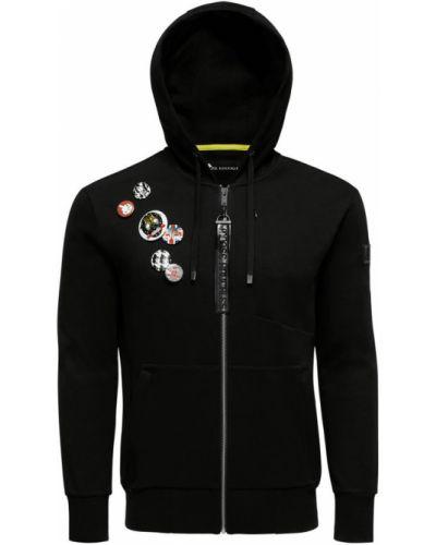 Czarna bluza sportowa z kapturem Moose Knuckles