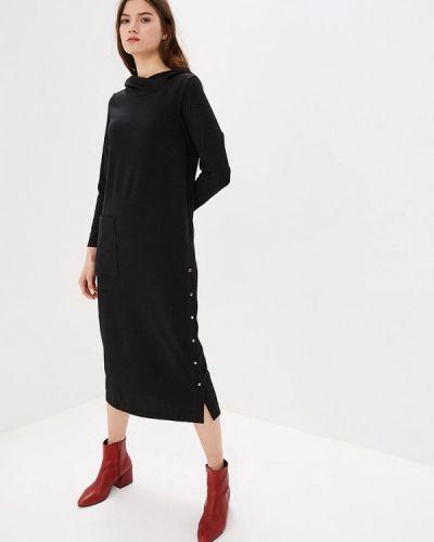 Платье осеннее черное Ofera