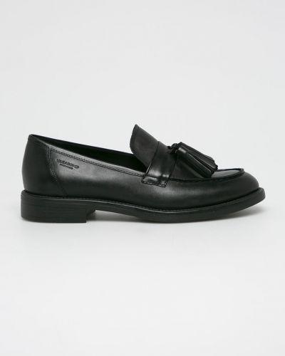 Мокасины кожаные черные Vagabond