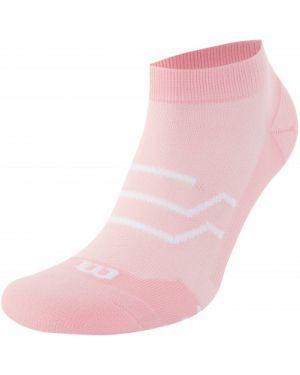 Розовые нейлоновые спортивные носки Wilson
