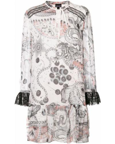 Платье с длинными рукавами шифт Just Cavalli