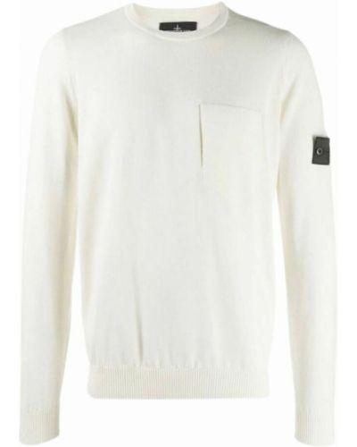 Sweter wełniany - biały Stone Island