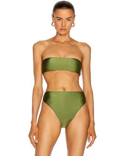 Нейлоновый зеленый топ стрейч Jade Swim