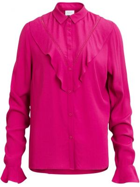 Рубашка с длинным рукавом с оборками из вискозы Vila