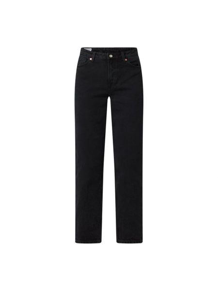 Mom jeans bawełniane - czarne Kings Of Indigo