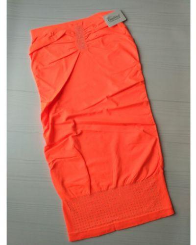 Мягкое оранжевое платье со стразами Greenice