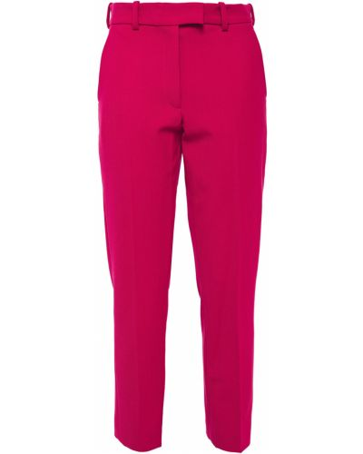 Różowe spodnie wełniane z paskiem Racil